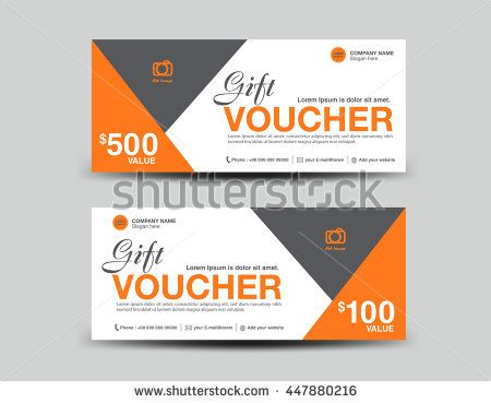 Green Gift Voucher Template Flyer Design Polygon Background