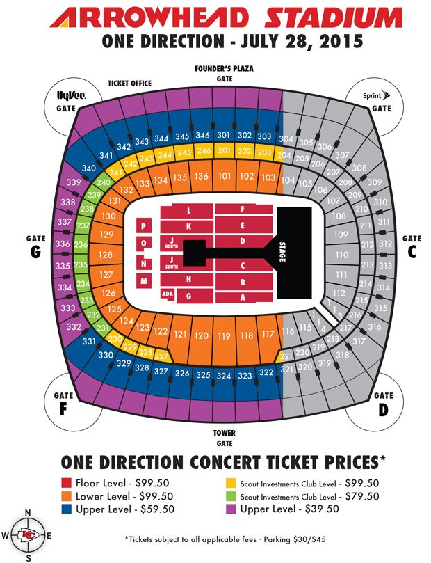 One direction set to play arrowhead stadium one direction