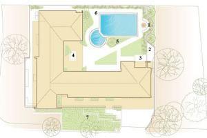 A slide show of a Beverly Hills garden makeover, designed by Judy Kameon.