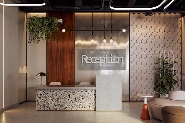 Royal Tower Office Interior Concept On Behance Clinic Interior Design Office Interior Design Interior Concept