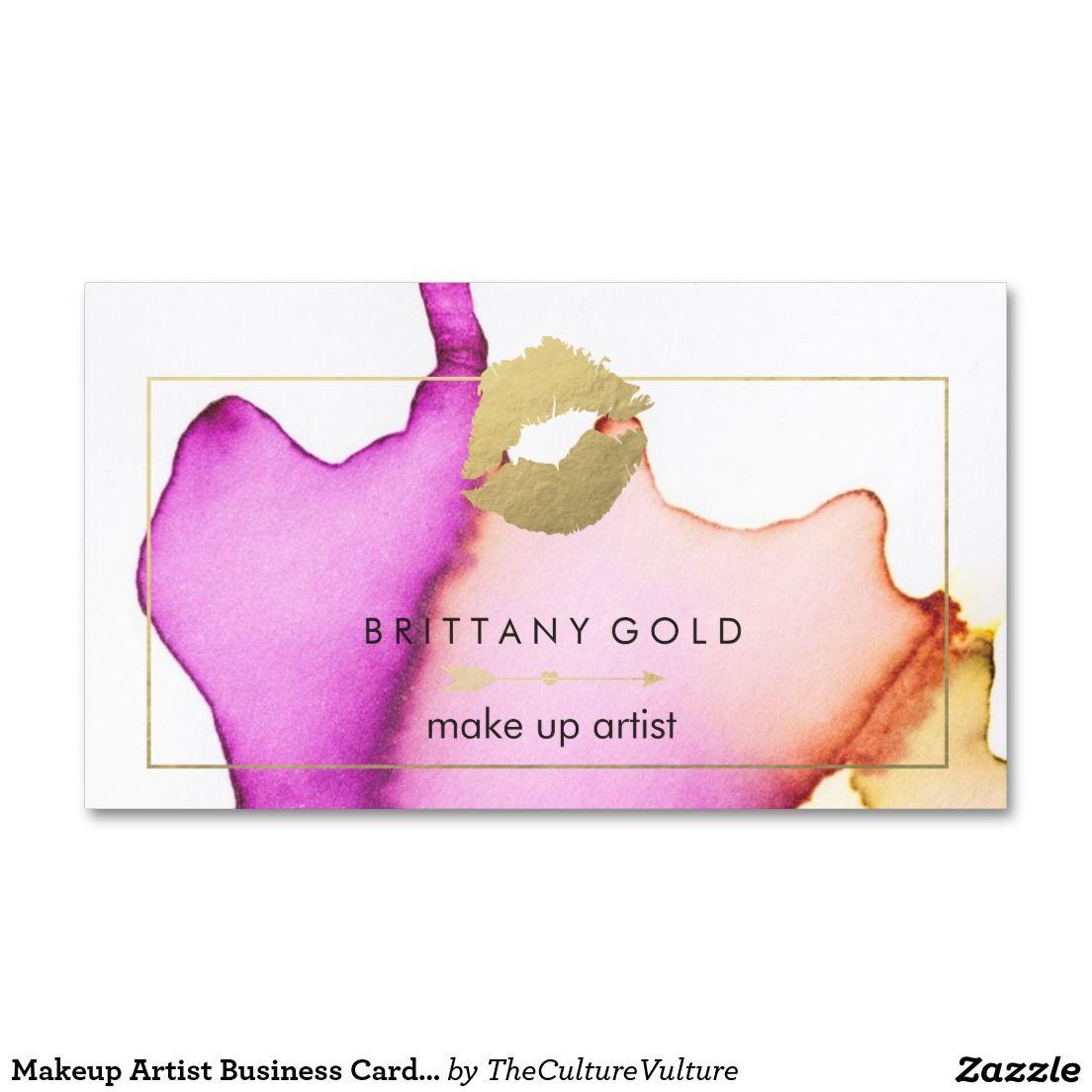 Makeup Artist Business Card - Chic Watercolor   Pinterest   Makeup ...