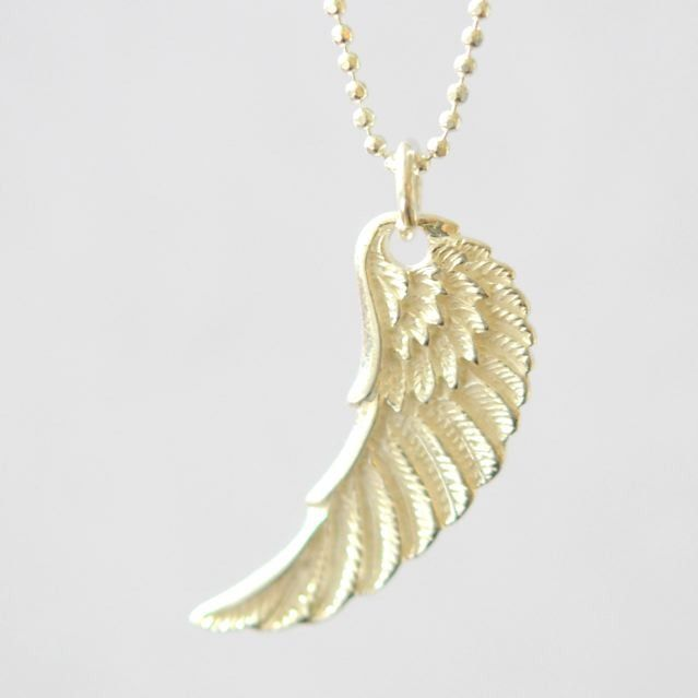Angel wing pendant necklace #necklace #pendant