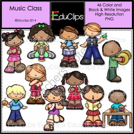 Music Class Clip Art Bundle From Educlips On TeachersNotebook