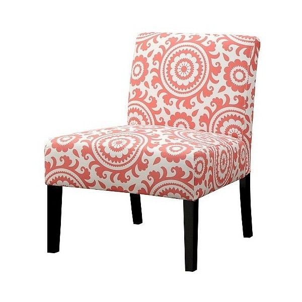 Wonderful Handy Living Upholstered Chair Coral ($160) ❤ Liked On Polyvore Featuring  Home, Furniture