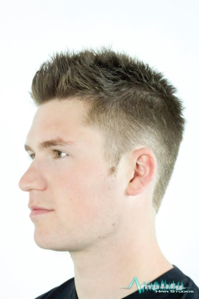 A Short Mens Straight Haircut This Hairstyle Features Length