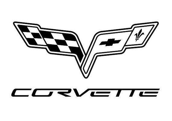 Corvette Car Logo Dealership Garage Sticker Vinyl Decal Wall Etsy In 2021 Corvette Car Logos Car Sticker Design