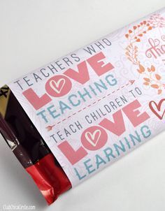 teacher appreciation valentines day chocolate bar free printable tween craft ideas for mom and daughter - Valentine Gift For Daughter