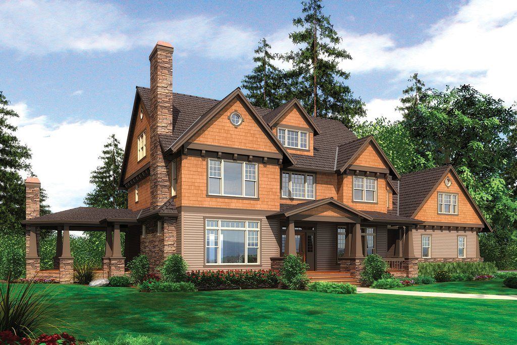 Craftsman Style House Plan 4 Beds 4 5 Baths 3959 Sq Ft Plan 48 250 Craftsman Style House Plans Shingle Style Homes Craftsman House Plans