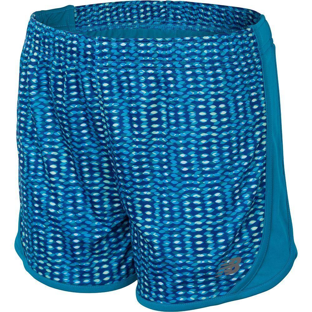 Girls 7-16 New Balance Fashion Performance Shorts, Size: 10-12, Turquoise/Blue (Turq/Aqua)