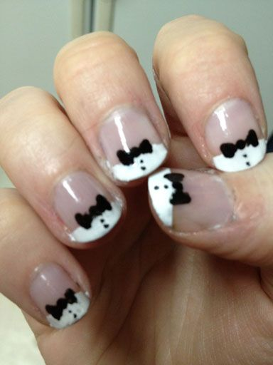 Tuxedo Nails, done by me