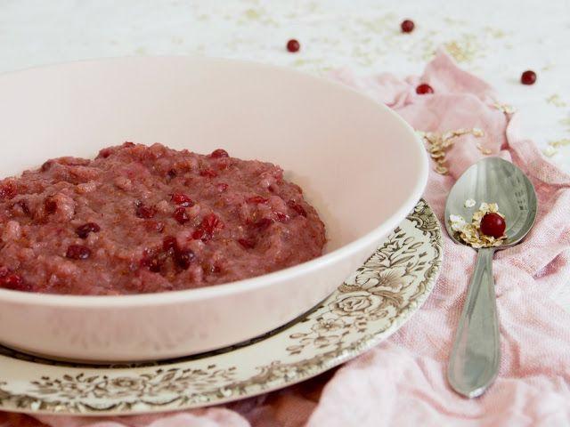 Helppo ruispuolukkapuuro - Peggyn pieni punainen keittiö