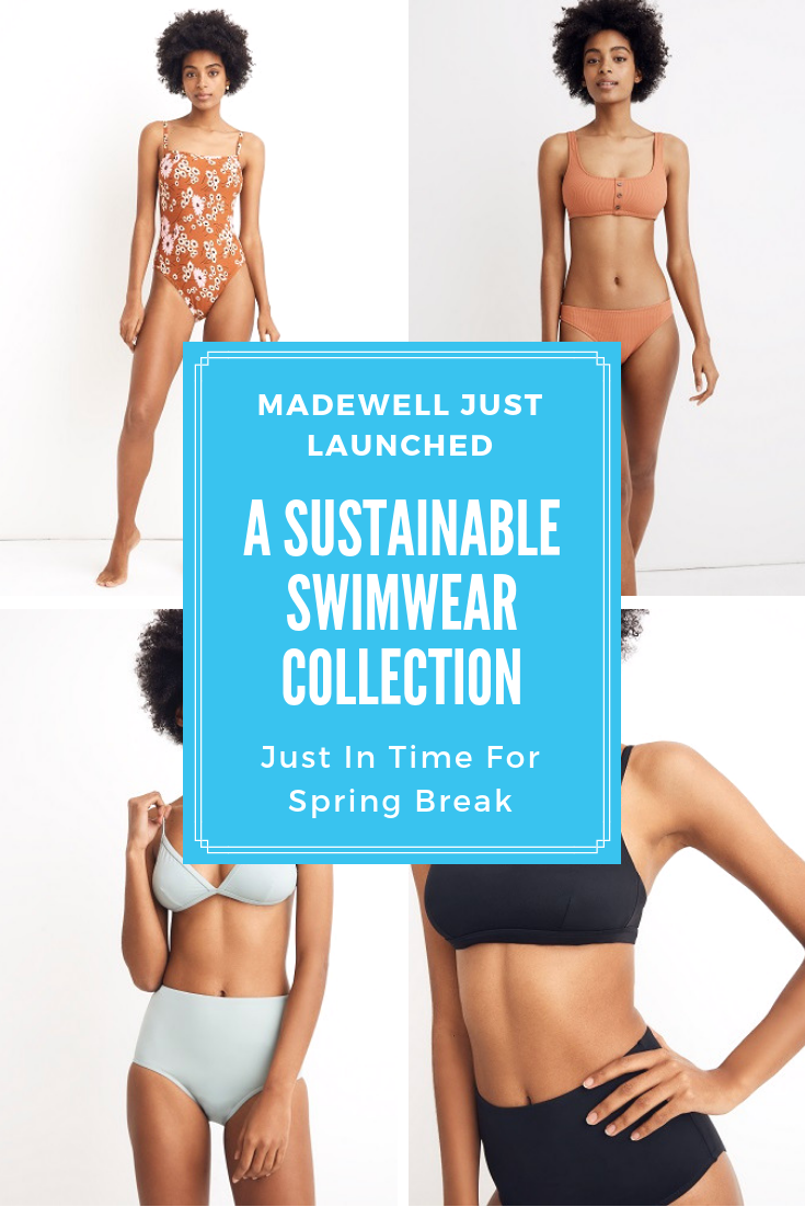 ea0a4a60f03 Be the first to shop Madewell's eco friendly swimwear on SheFinds.com.  #fashion #style #swimsuits #swimwear