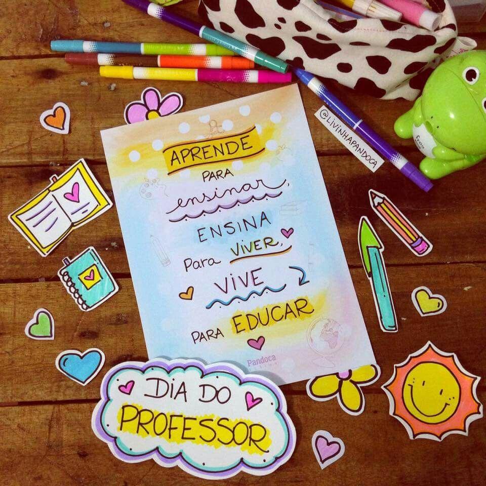 Feliz Dia Do Professor Resenhas Pinterest Resenha E Professores