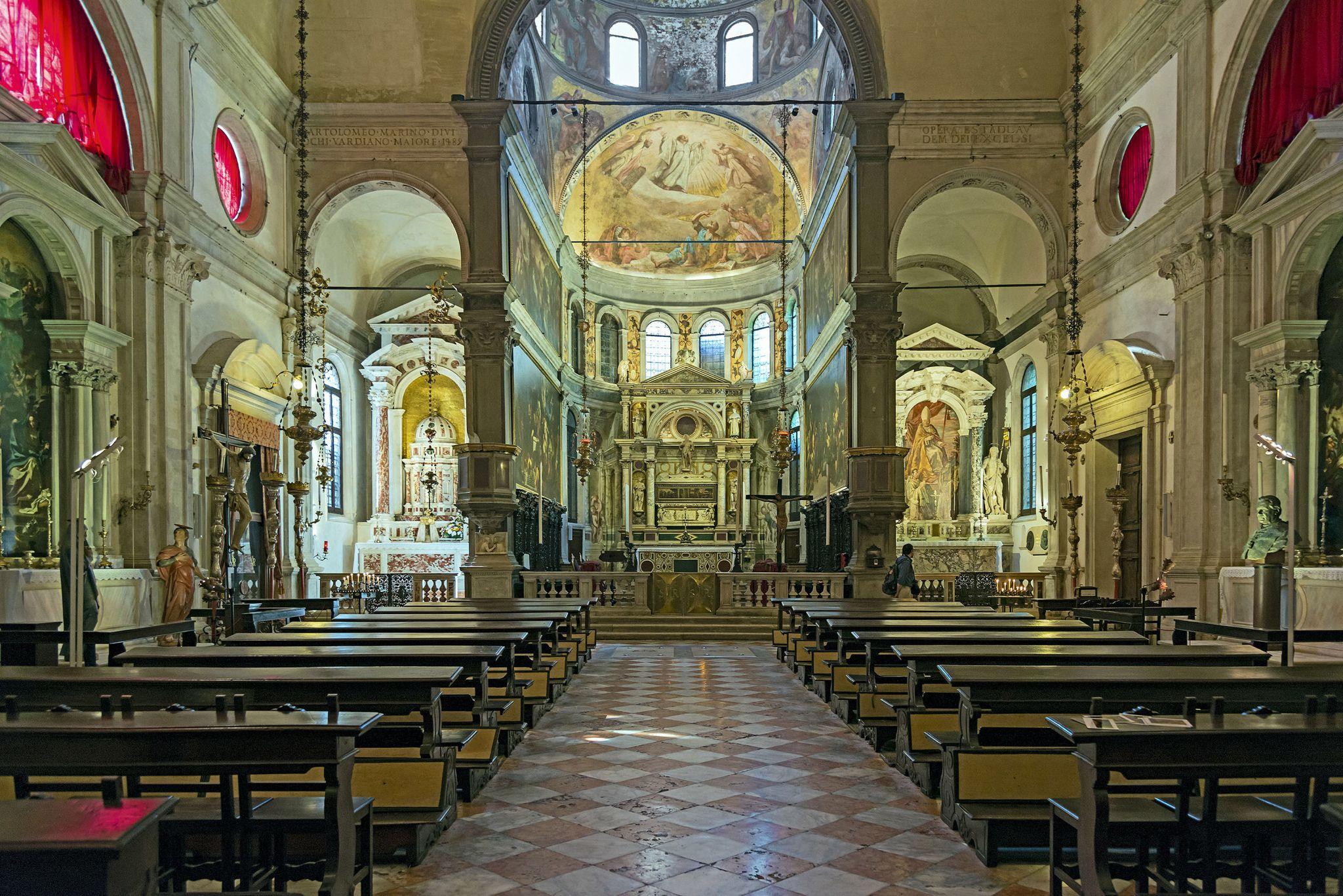 Interno di Chiesa di San Rocco, Venezia Church's