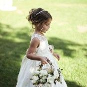 Elegant Flower Girl Basket