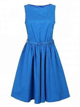 Shop Blue Vintage Sleeveless Midi Dress from choies.com .Free shipping Worldwide.$27.9