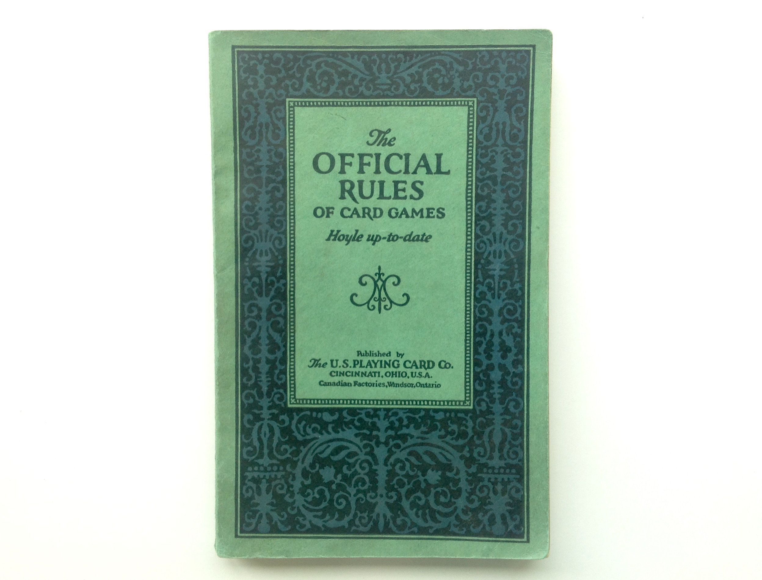 Vintage The Official Rules Of Card Games Hoyle Up To Date 1929