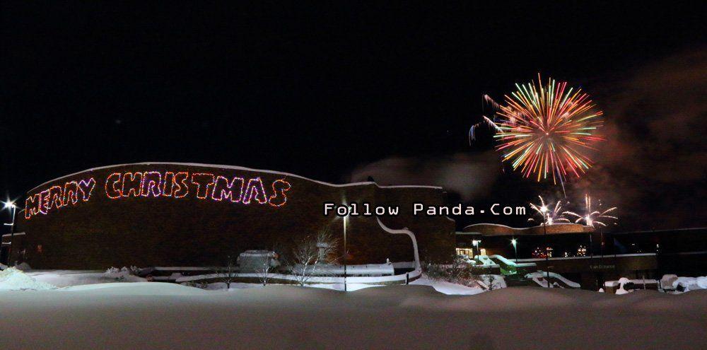 New Year's Eve Fireworks at Grande Prairie Regional College GPRC - Grande Prairie, Alberta, Canada | FollowPanda.COM