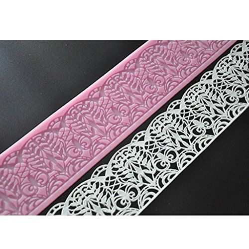 FOURC Baking Decorating Embossing Silicone Mat Lace Cake Pad Color Pink -- You can find out more details at the link of the image.