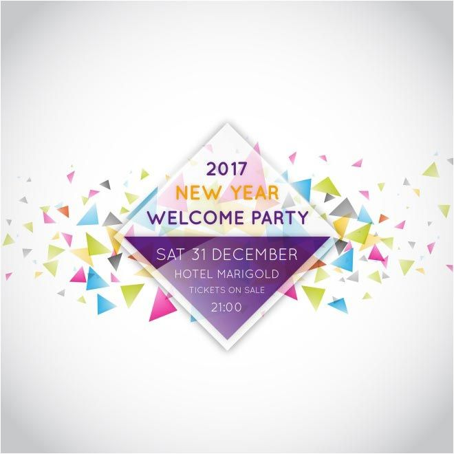 free vector 2017 New Year Welcome Party Design Background    www - fresh invitation banner vector