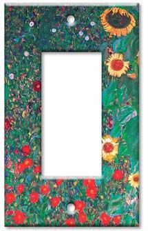 Klimt - Sunflowers decorative switch plate