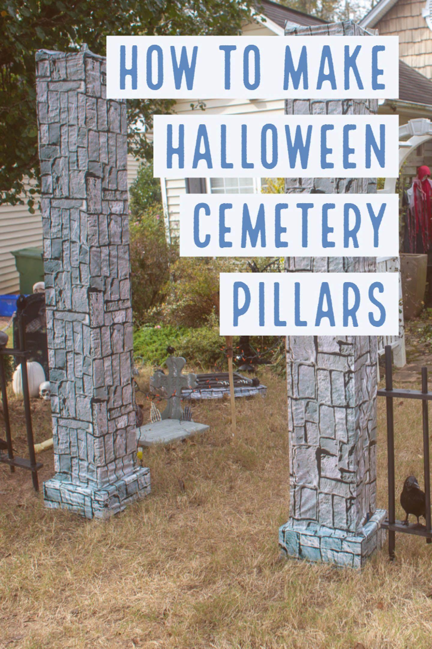 12++ Halloween decorations cemetery entrance ideas