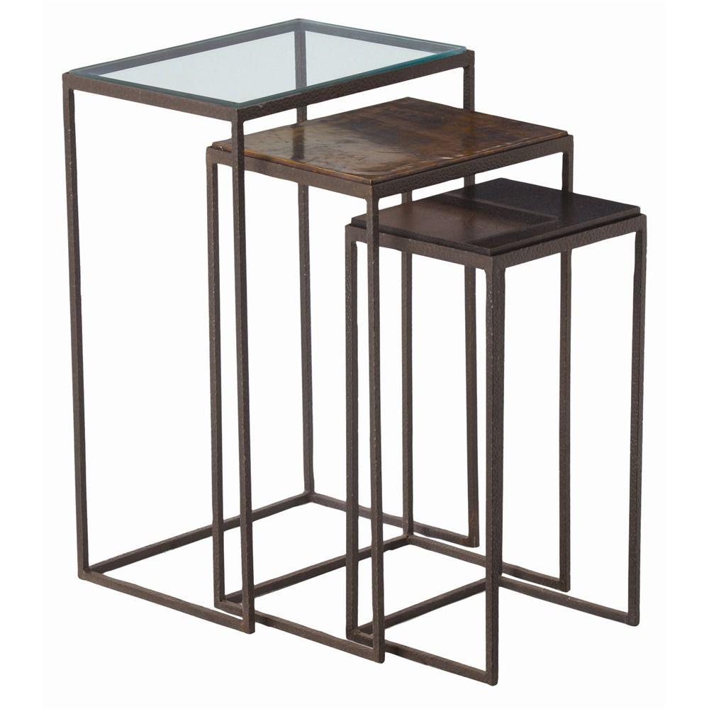 Knight Large Nesting Tables Set of 3  sc 1 st  Pinterest & Knight Large Nesting Tables Set of 3 | Family Rooms | Pinterest ...