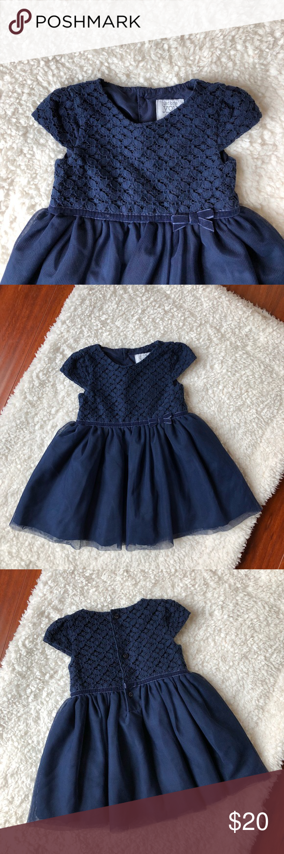 fdfd224722d44 Carter's 6mo Baby Girl Dress Carters special occasion dress. Size 6mo.  Color navy. Worn once. Carter's Dresses