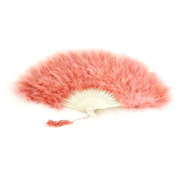 Marabou Feather Fan Available in 18 Beautiful Assorted Colors ❤ liked on Polyvore featuring home, home decor, fan and red home decor