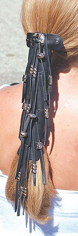 10 Inch Silver Bead Hair Wrap