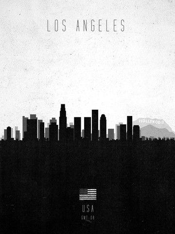 Contemporary City Skylines Calm The Ham Los Angeles Travel Poster Los Angeles Poster Los Angeles