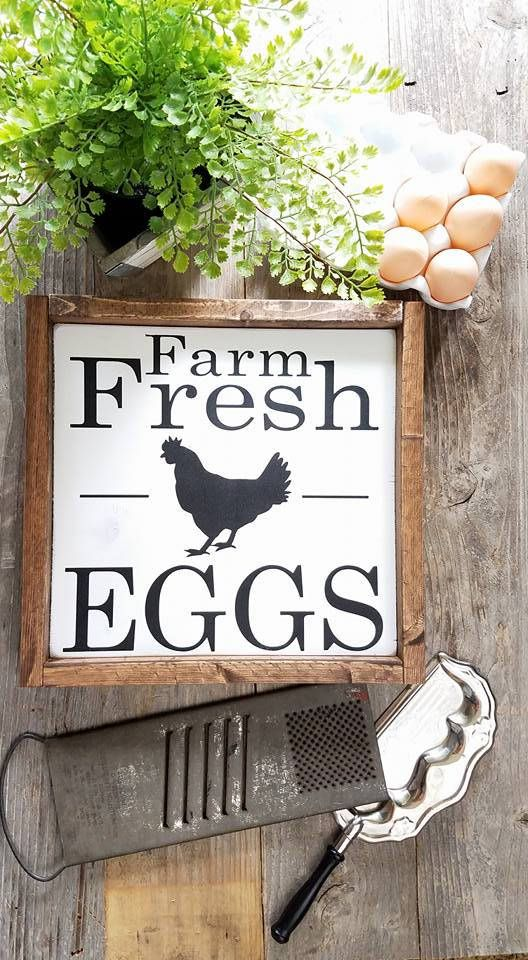 Farmhouse Decor Farm Fresh Eggs Signs Wood Signs Framed Signs Kitchen Decor Kitchen Signs Kitchen Decor Signs Farmhouse Kitchen Signs Farmhouse Signs Diy