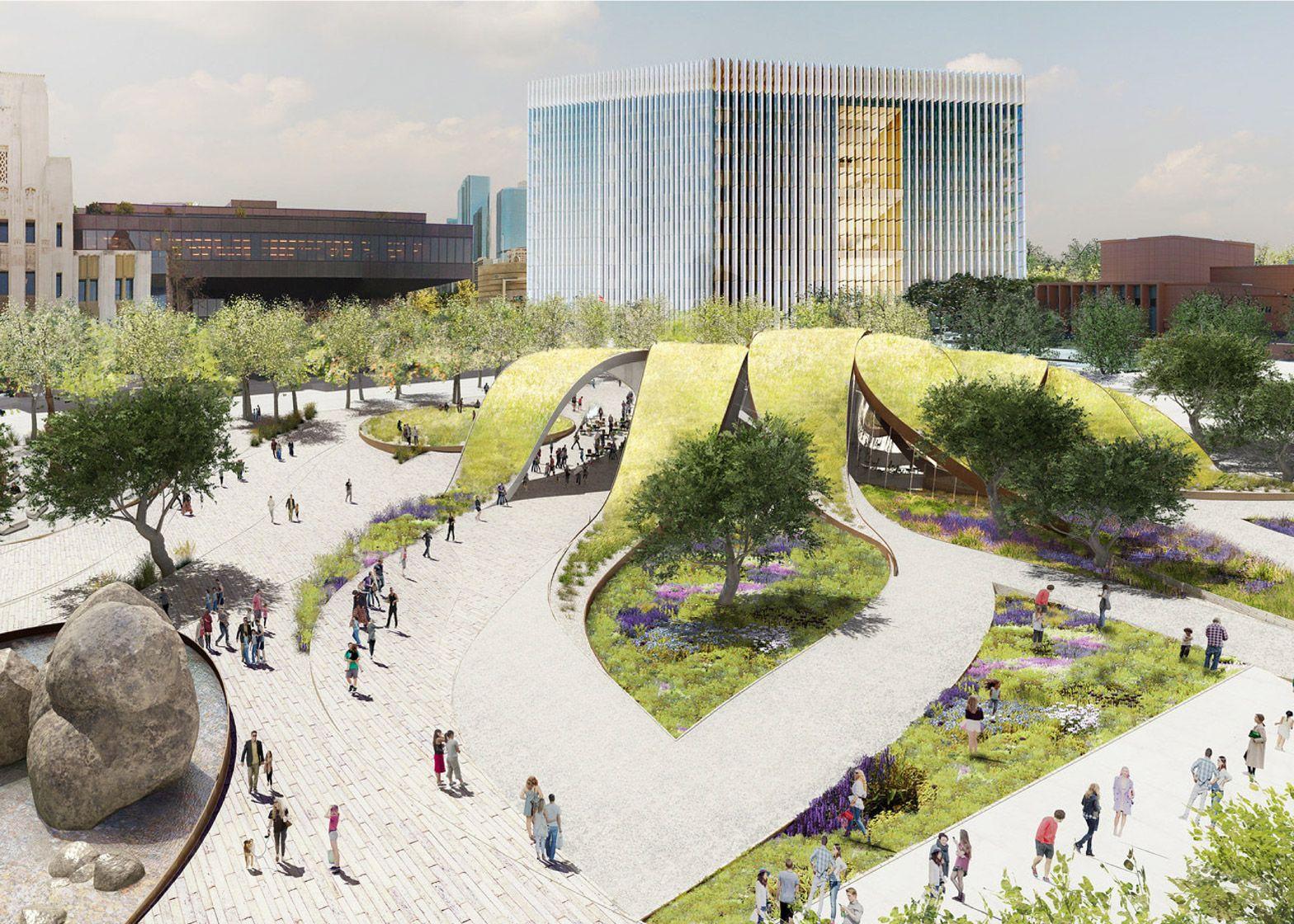Center Park, Centre, Proposals, Living Spaces, Los Angeles, Architects,  Parks, Dancing, Sketch