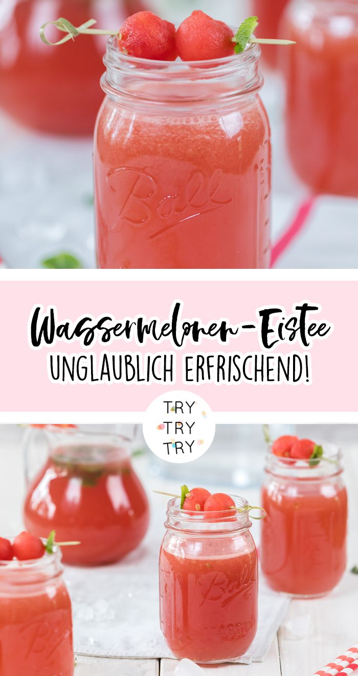 Drinks/ Eistee / Wassermelonen-Eistee / Getränk für den Sommer / Summerdrinks