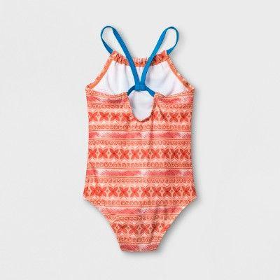 9b2e3ee03f4ba Toddler Girls' Moana One Piece Swimsuit - Orange 2T in 2018 ...