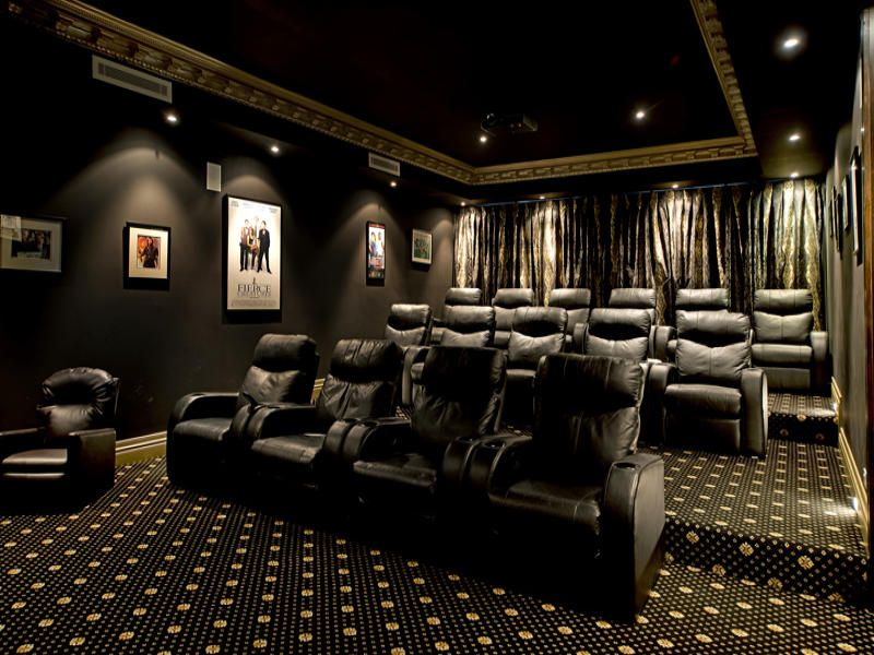 Home Theatre Another Great Colour Scheme Sophisticated