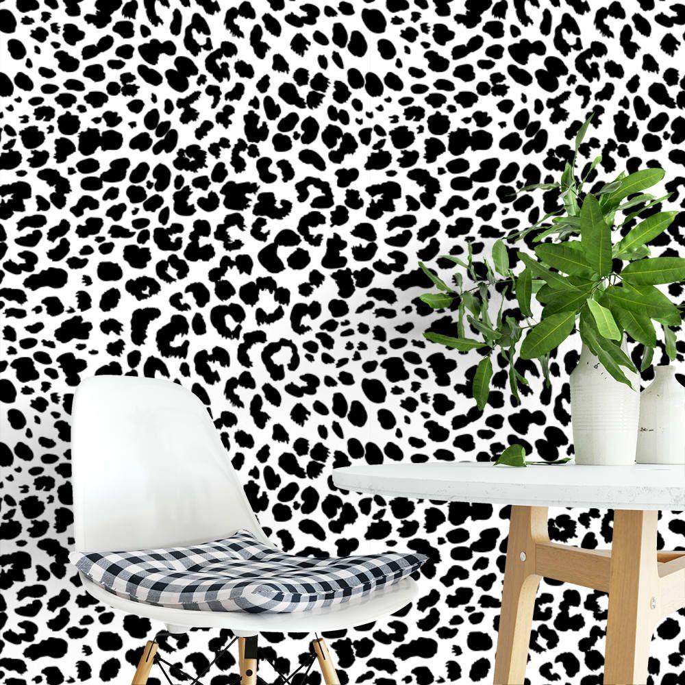 Leopard Brown Or Black Removable Wallpaper G210 27 Etsy Removable Wallpaper Temporary Wallpaper Self Adhesive Wallpaper