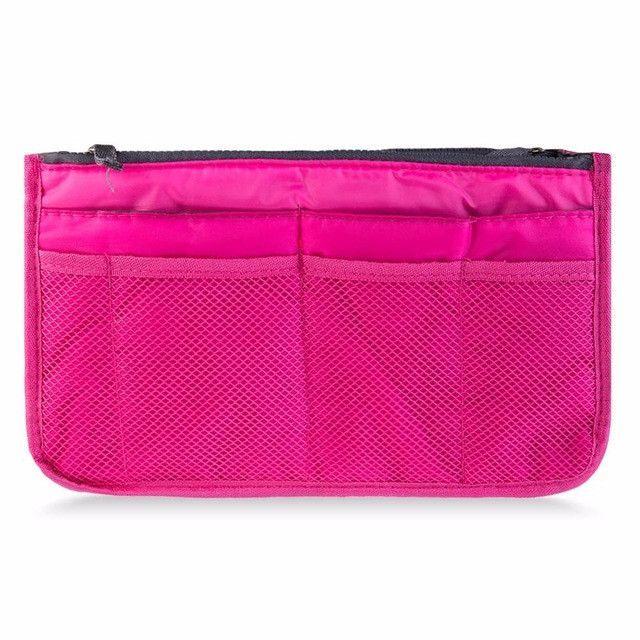 12 Colors Make up organizer bag Women Men Casual travel bag multi functional Cosmetic Bags storage bag in bag Makeup Handbag