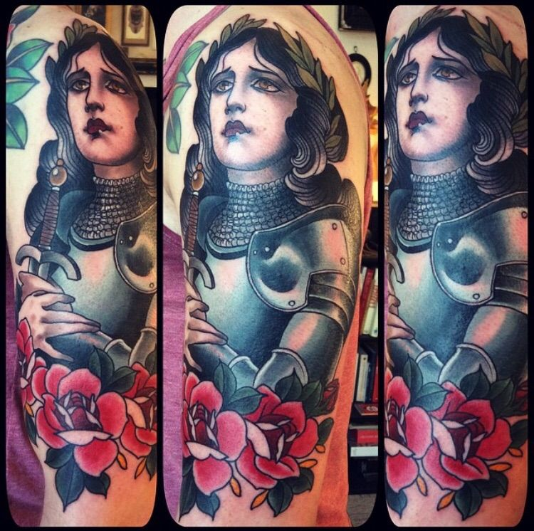 J D Salinger Tattoos Contrariwise Literary Tattoos: Joan Of Arc By Alix Ge (Sète, France)