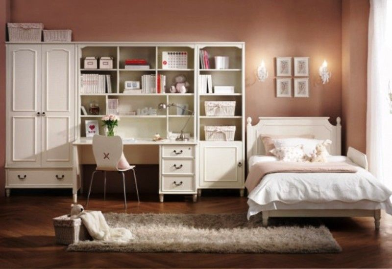 Classic Teen Bedrooms | White Sophisticated Elegant Classic Style Teen  Bedroom | Photos .