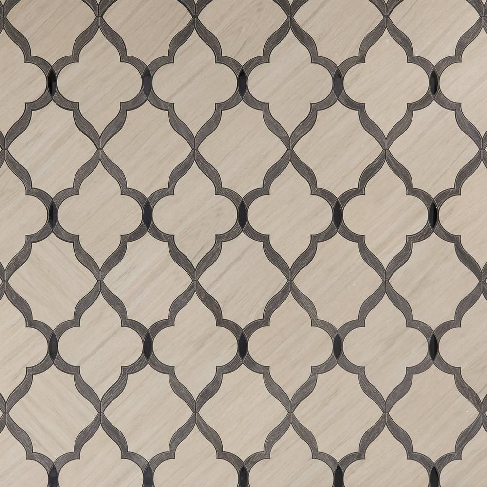 Floor And Decor Arabesque Tile Beacon Hill Arabesque Water Jet Cut Porcelain Mosaic  Mosaics