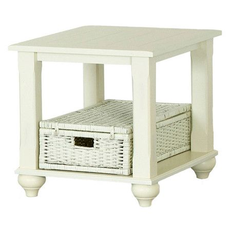 A delightful addition to your living room or den, this timeless end table showcases a cottage-chic white finish and paneled top.   ...