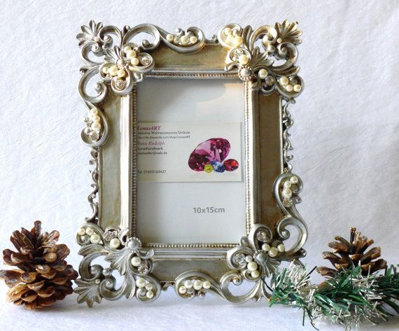 Vintage Jewelled Picture Frame Ornaments Photo Frame