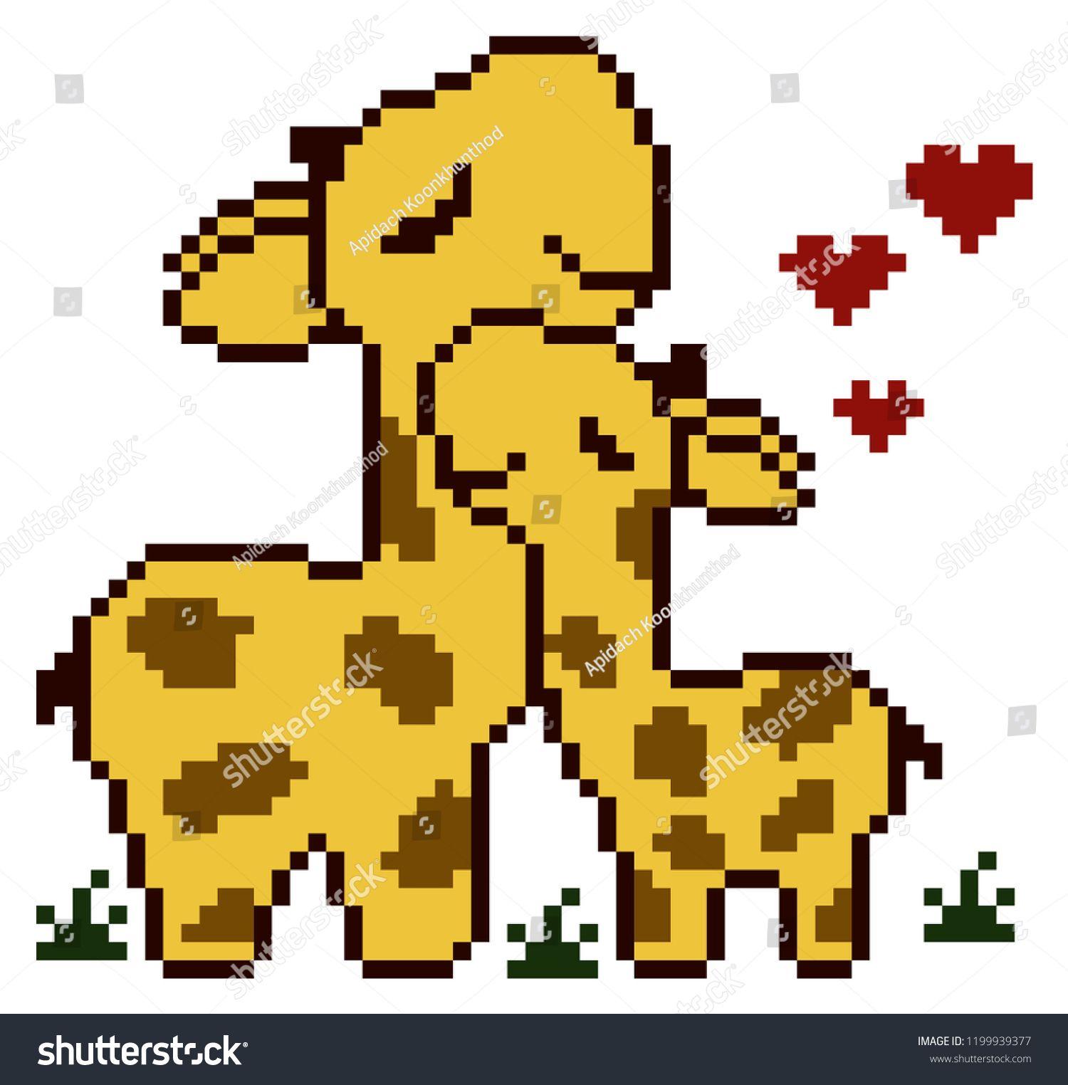 Giraffes Pixel Art Ad Ad Giraffespixelart Pixel