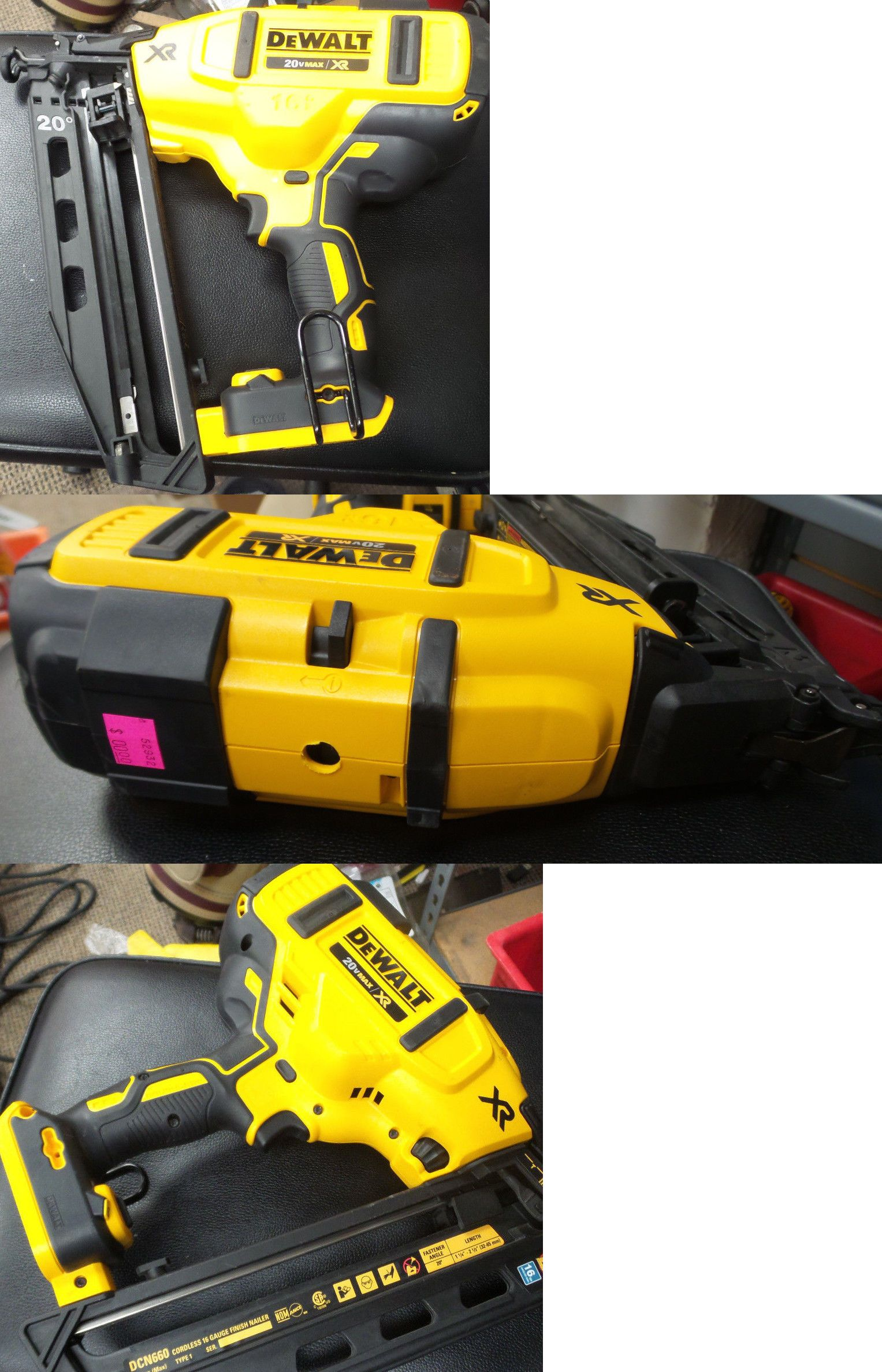New Dewalt Xr 16 Ga 20 Degree Angled Finish Nailer Tool Only Dcn660 Finish Nailer Dewalt Nailer