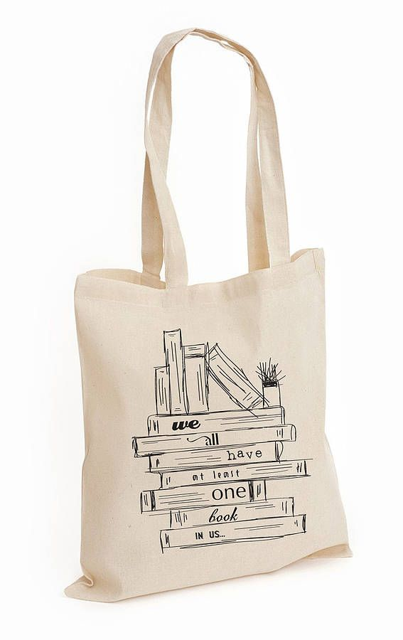 Sketch Cotton Tote Bag Books
