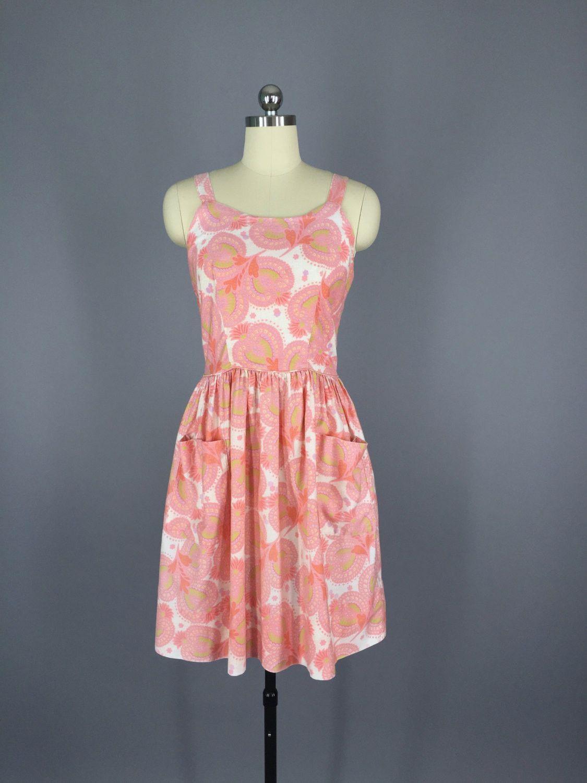1950s Vintage Pink Sundress | Vestidos juveniles, Juveniles y Vestiditos