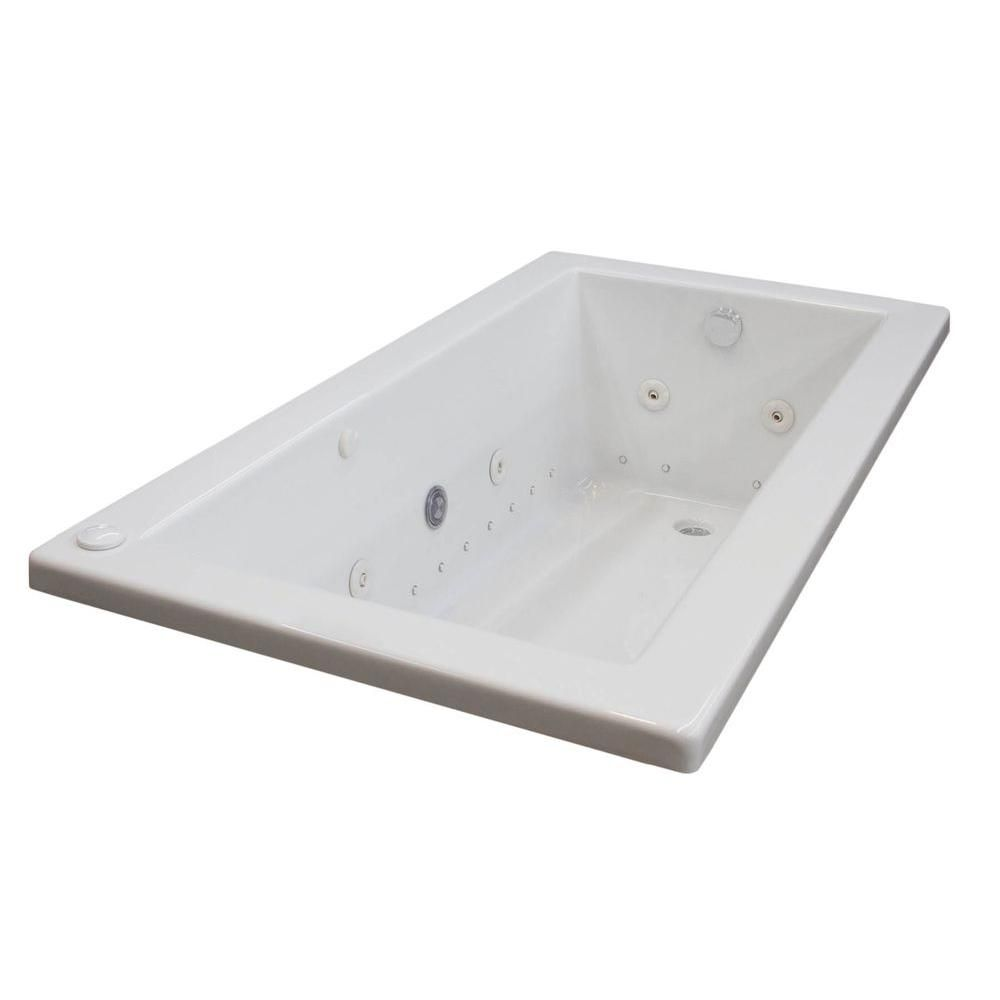 Universal Tubs Sapphire 6 ft. Rectangular Drop-in Whirlpool and Air ...