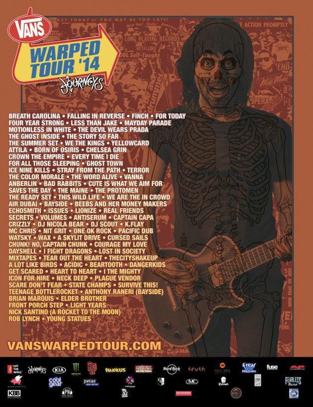 8173e913f0 Vans Warped tour 2014 poster