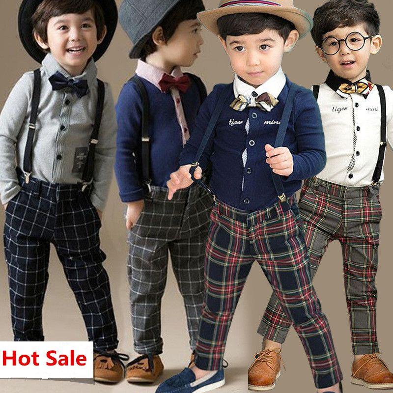 chemise 3pcs enfants bébé garçon gentleman manteau jeans Pantalon Vêtements Tenues Ensemble